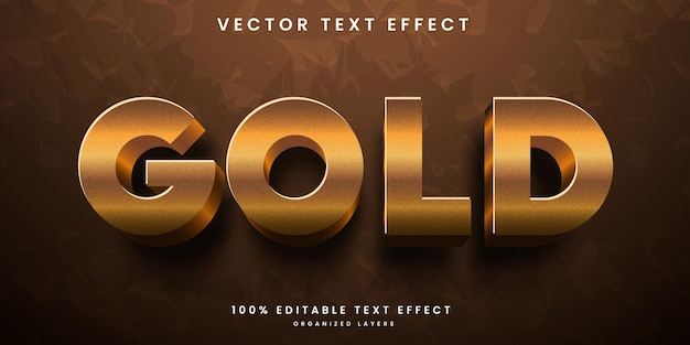 Editable text effect in gold style