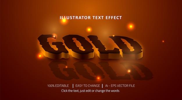 Редактируемый текстовый эффект золотого заголовка
