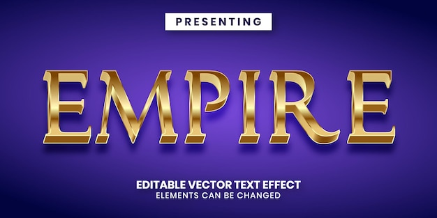 편집 가능한 텍스트 효과 황금 시대 제국 스타일