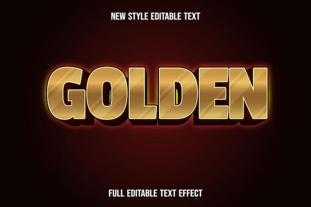 편집 가능한 텍스트 효과 황금색 금색 및 진한 빨간색