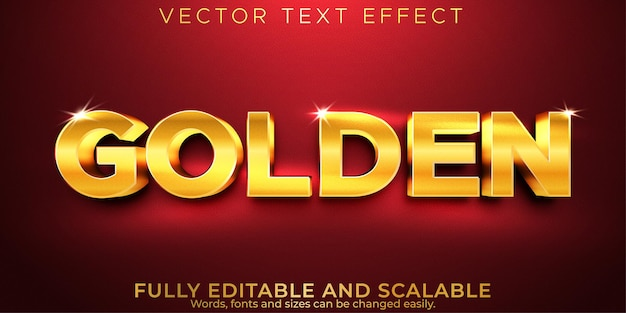 Editable text effect, golden luxury text style