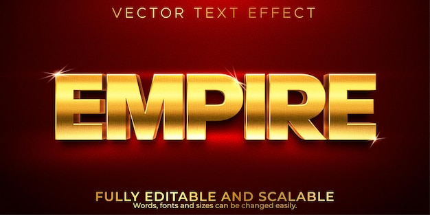 Editable text effect golden luxury text style