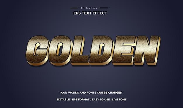 Редактируемый текстовый эффект в золотом стиле