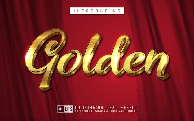 Editable text effect golden text style concept