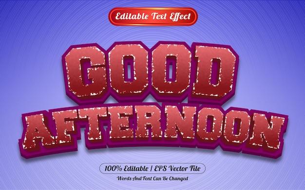 Редактируемый текстовый эффект добрый день в стиле шаблона