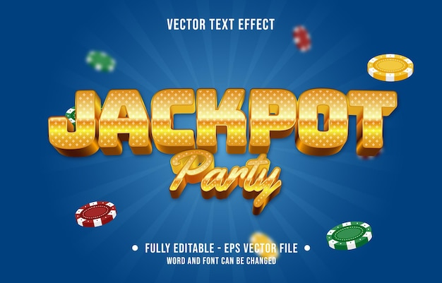Editable text effect gradient color casino background style font effect template