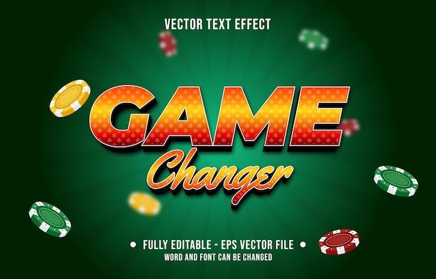 編集可能なテキスト効果グラデーションカラーカジノポーカーゲームスタイルフォント効果テンプレート
