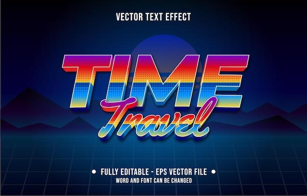編集可能なテキスト効果のグラデーションカラーレトロフューチャー80年代スタイル