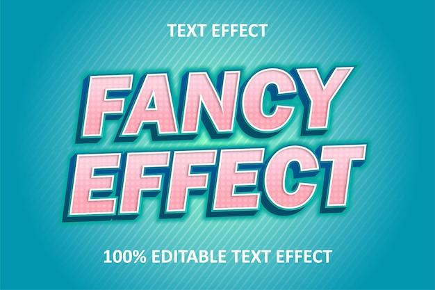 Редактируемый текстовый эффект зеленый синий розовый