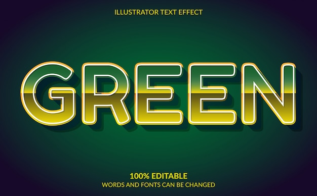 Editable text effect, green forest video game text style