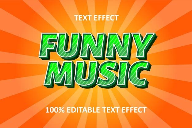 Редактируемый текстовый эффект зеленый оранжевый