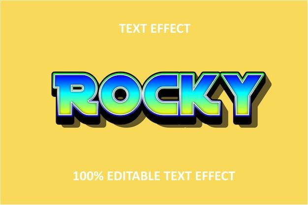 Редактируемый текстовый эффект зеленый розовый синий