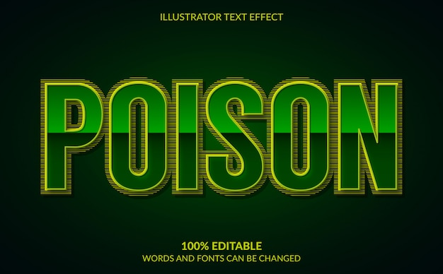 Editable text effect, green poison text style