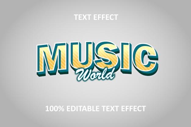 Editable text effect green silver