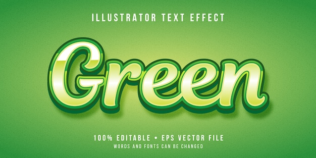 Editable text effect - green text style
