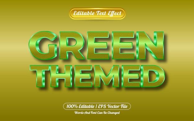 편집 가능한 텍스트 효과 녹색 테마 골드 스타일