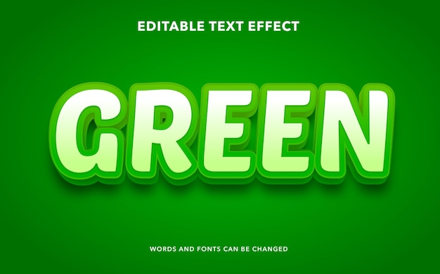 Editable text effect for green