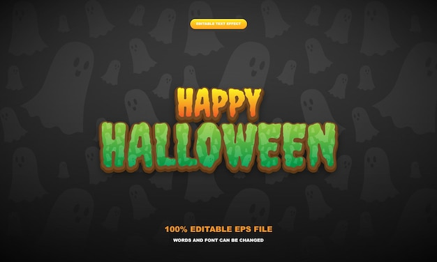 Editable text effect halloween premium vector