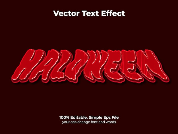 Editable text effect halloween and scary