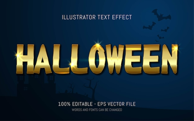 Редактируемый текстовый эффект, стиль хэллоуина
