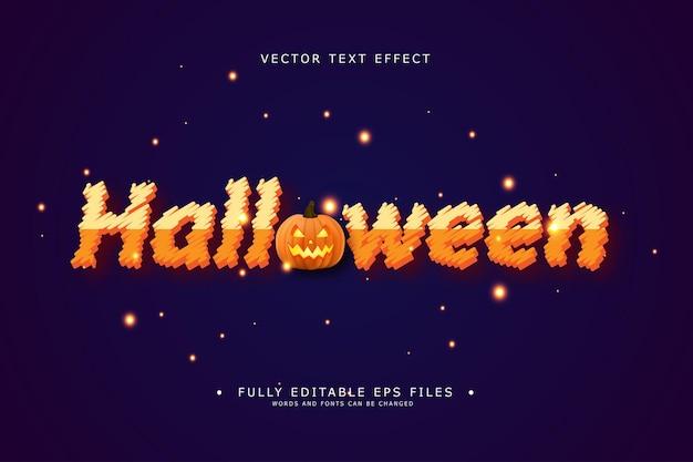 Editable text effect halloween