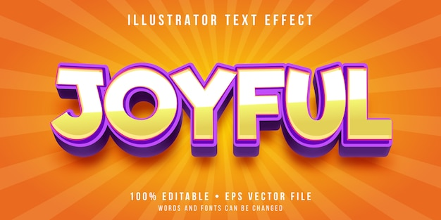 Editable text effect - happy feeling style
