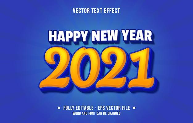 편집 가능한 텍스트 효과 새해 복 많이 받으세요 현대적인 스타일