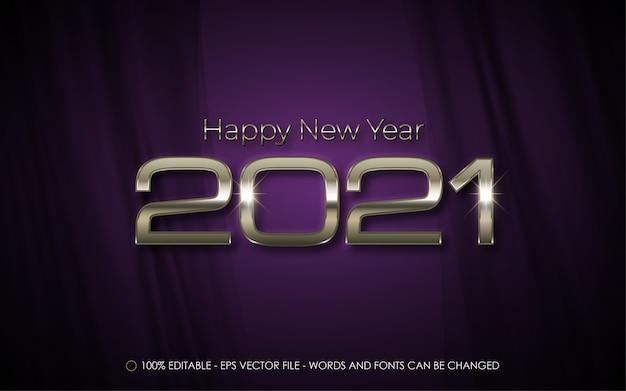 편집 가능한 텍스트 효과, 새해 복 많이 받으세요 스타일 일러스트레이션