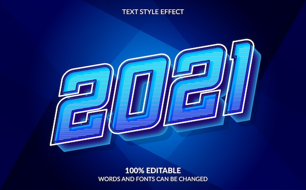 Editable text effect happy new year with abstract background