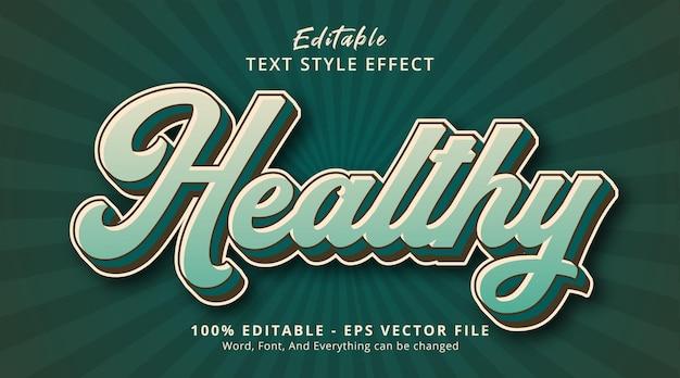 編集可能なテキスト効果、緑のレイヤードスタイル効果の健康的なテキスト