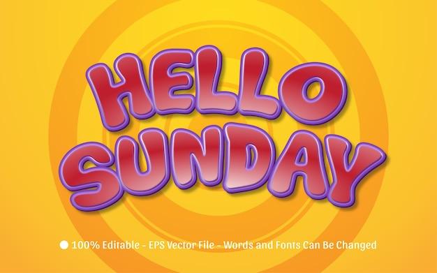 Editable text effect, hello sunday style