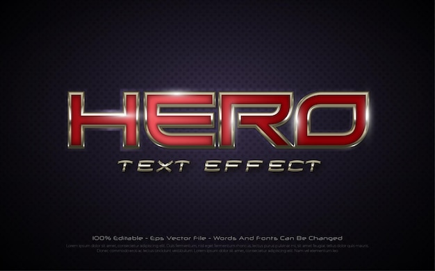 Editable text effect hero 3d style illustrations