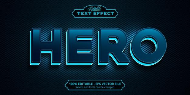 Editable text effect, hero text