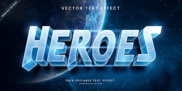 Editable text effect in heroes style