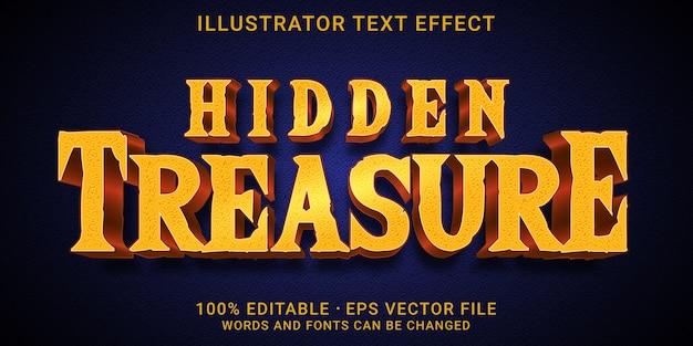Редактируемый текстовый эффект - стиль hidden treasure