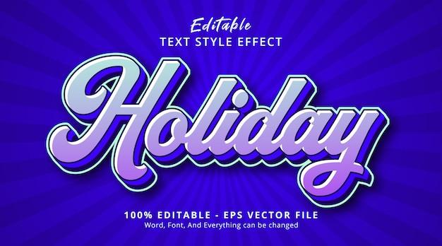 Редактируемый текстовый эффект, праздничный текст на многоцветном многослойном эффекте стиля