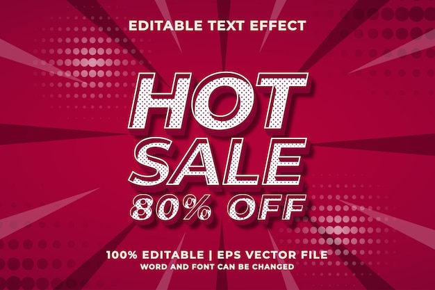 Editable text effect - hot sale 3d style template. premium vector