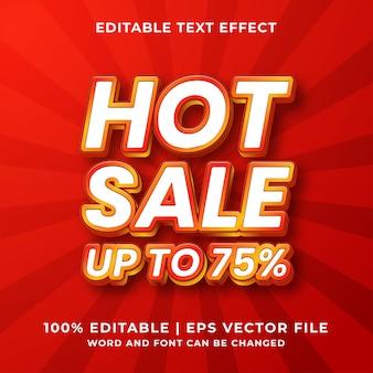 Редактируемый текстовый эффект - стиль шаблона hot sale премиум векторы