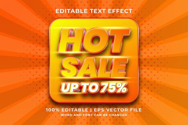 Editable text effect - hot sale template style premium vector