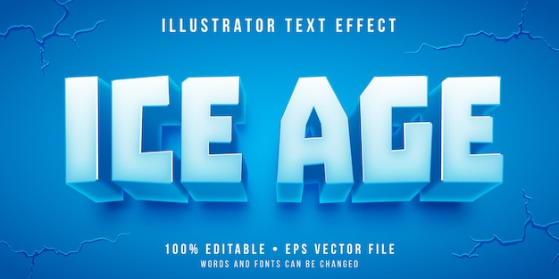 Editable text effect - ice block style