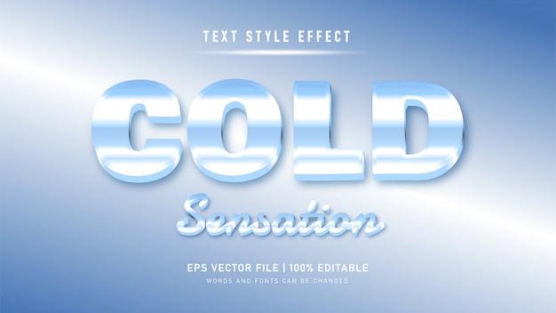 편집 가능한 텍스트 효과. 얼음처럼 차가운 스타일의 텍스트 효과
