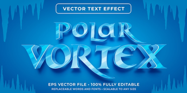 Editable text effect - ice vortex text style