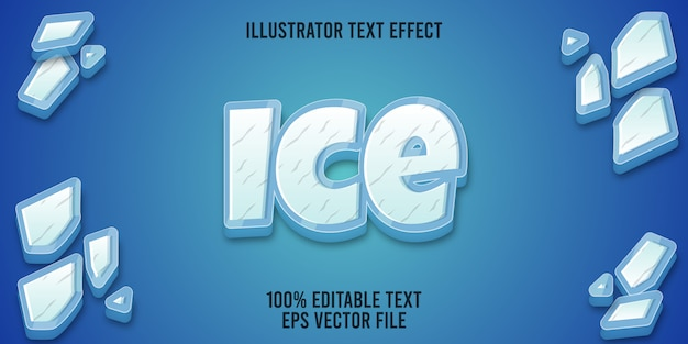 Editable text effect ice