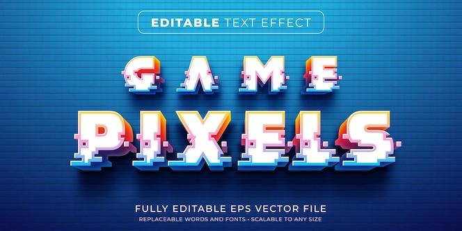 아케이드 게임 픽셀 스타일의 편집 가능한 텍스트 효과