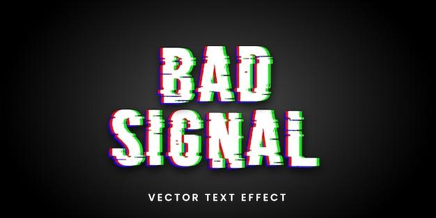 Редактируемый текстовый эффект в стиле плохого сигнала