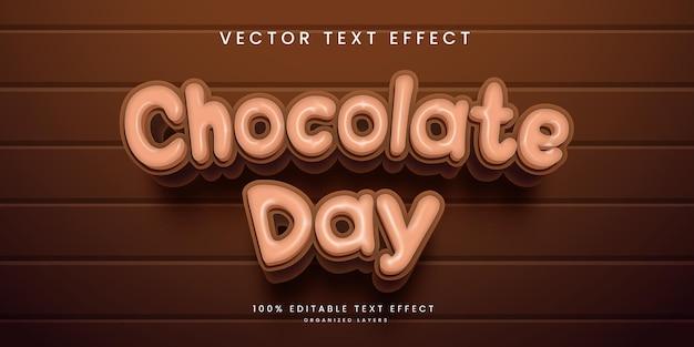 초콜릿 데이 스타일의 편집 가능한 텍스트 효과