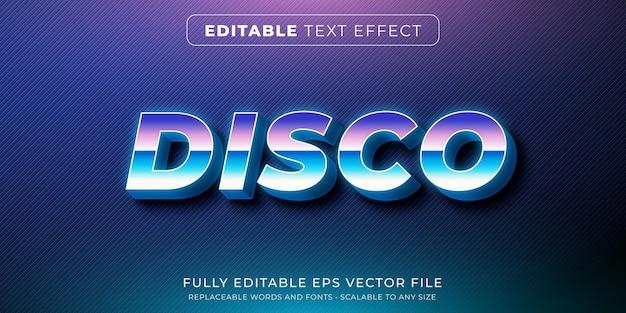 Редактируемый текстовый эффект в стиле ретро дискотеки