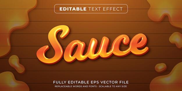 Редактируемый текстовый эффект в стиле пищевого соуса