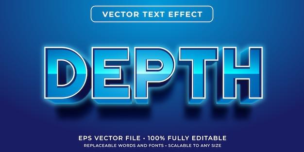Редактируемый текстовый эффект в стиле светящегося синего текста