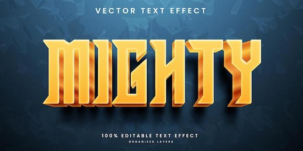 Редактируемый текстовый эффект в мощном стиле